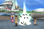 Sorceress A uses Aero from FFVIII Remastered