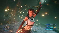 FFVIIR Tifa in battle