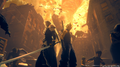 Sephiroth and Cloud in Shinra presentation from FFVII Remake