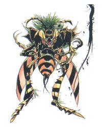 Amano's artwork of Hornet in Final Fantasy II.