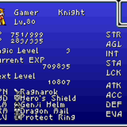 Final Fantasy stats