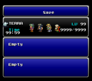 FFVI SNES Save Menu