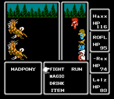 "A battle ""scene"" in Final Fantasy."