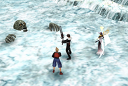 Vysage fought at the Great Saly Lake from FFVIII Remastered