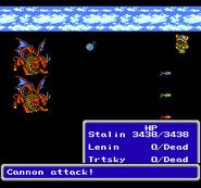 FFIII NES Cannon Attack