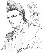 Ignis and Kenny Crow artwork for FFXV 2nd anniversary