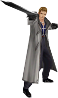 Seifer's stance with a gunblade.