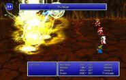 BLM using Thundaga from FF Pixel Remaster