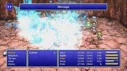 Rydia using Blizzaga from FF4 Pixel Remaster