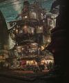 Sector 5 Slums artwork for FFVII Remake