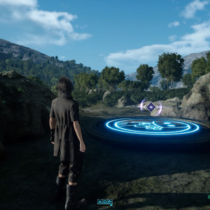 Warp pad to Close Encounter of the Terra Kind from FFXV.png