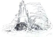 Northern Crater Lifestream Eruption FFVII Sketch