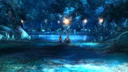 Yuna & Tidus Macalania Pond.jpg