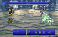 Maria using Cure III from FFII Pixel Remaster