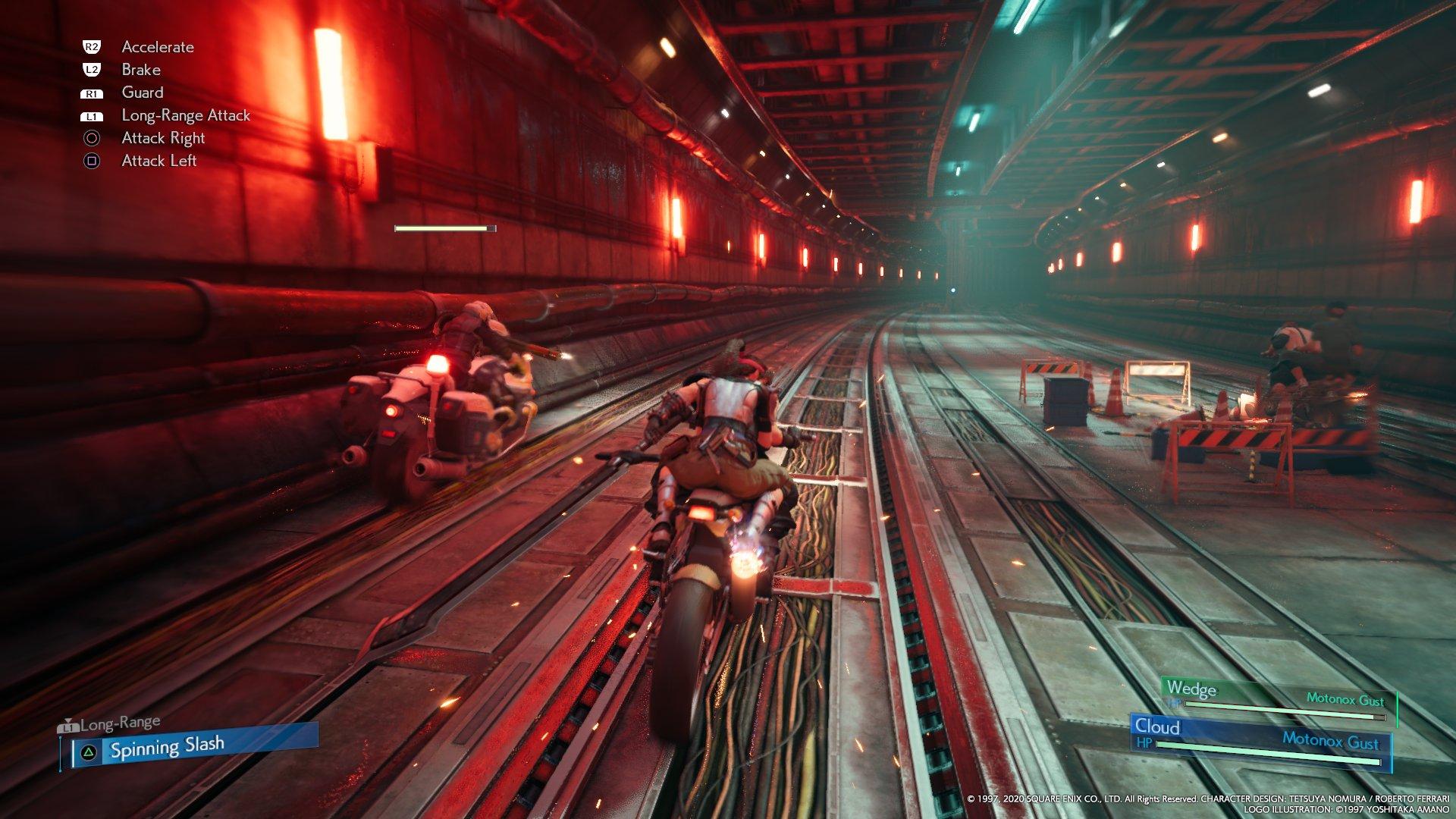 Bike minigame (VII Remake)