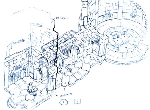 Alexandria Castle Dungeon Hallway FFIX Art.jpg