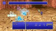 Rydia using Blizzard from FFIV Pixel Remaster