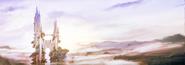 Castle Sasune prologue artwork for Final Fantasy III 3D