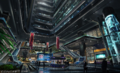 Shinra HQ lobby concept art FFVII Remake