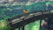 Tidus rides a chocobo