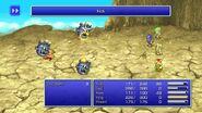 Yang using Kick from FFIV Pixel Remaster
