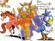 FFLII Odin and Entourage Artwork