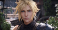 Cloud Strife at Midgar Slums in FFVII Remake