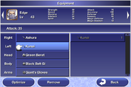 FFIV iOS Menu - Equipment
