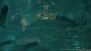 Whispers overwhelm the Shinra Building from FFVII Remake