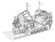 Lindblum Castle Base Level Transport FF9 Art