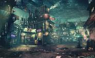 Sector 7 Slums artwork for Final Fantasy VII Remake