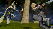 Dissidia Final Fantasy Warrior of Light VS Cloud