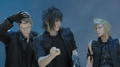 Ignis Noctis and Prompto in Adventurer from Another World from FFXV