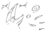 Pist mouth and eye details for Final Fantasy Unlimited