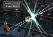 Selphie tries to cure Zell from FFVIII Remastered.png