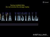 Data install