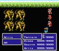 FFIII NES Geomancer Earthquake