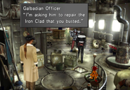 Galbadian Soldier at Grease Monkeys from FFVIII Remastered
