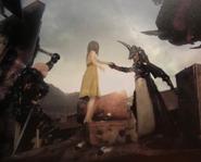 Loqi Sol and Aranea in FFXV Dawn of the Future