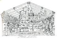 Wutai Weapon Shop FF7 Art