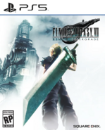 FFVII Remake Intergrade standard edition cover art for PS5