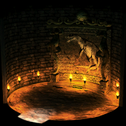 Temple of the ancients dinosaur mural.png