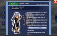 DFFOO Setzer Event character introduction