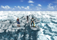 Great Salt Lake cliff edge save point from FFVIII Remastered