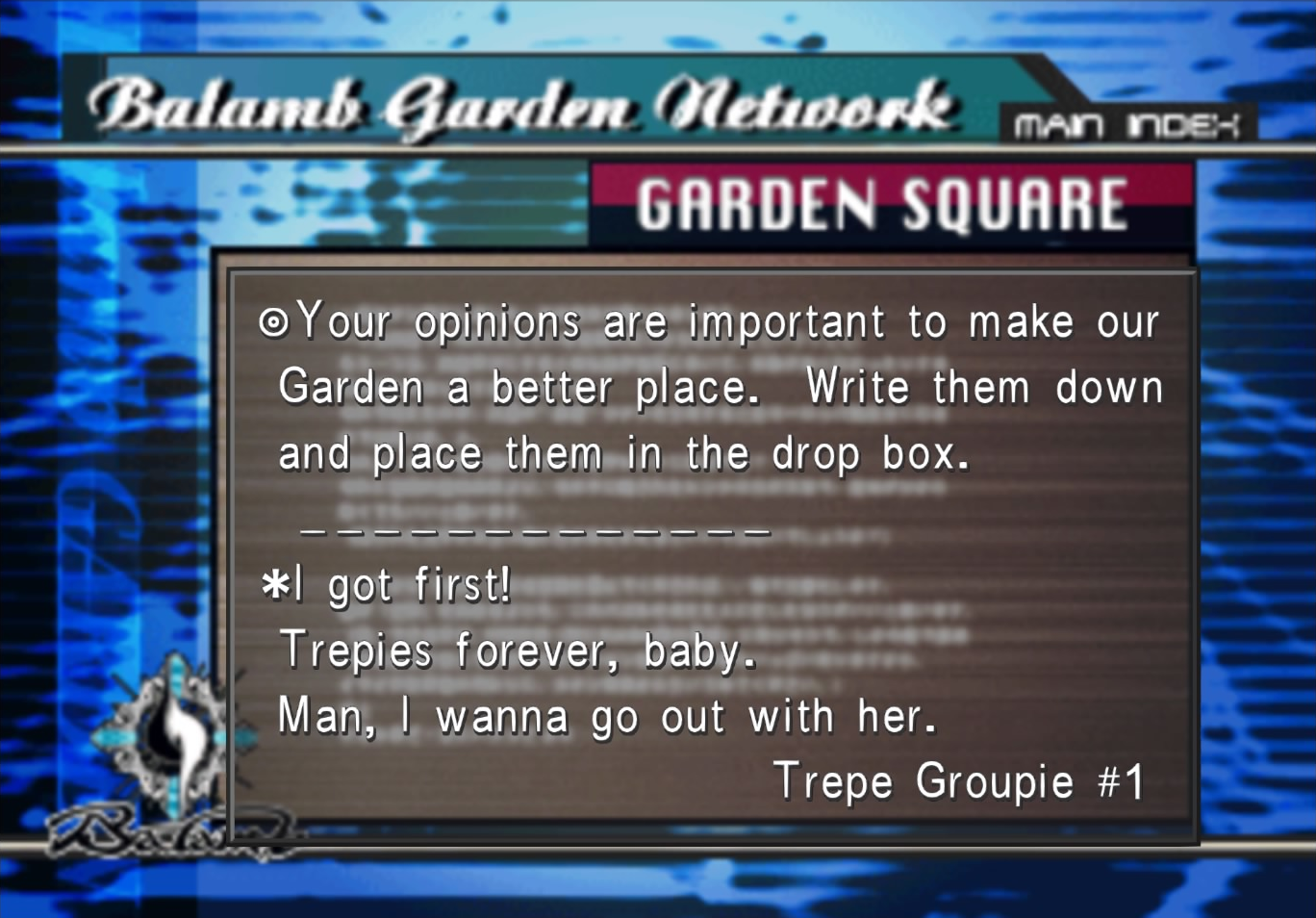Trepie 1 on Garden Message Board from FFVIII R.png