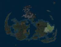Выделено на карте мира