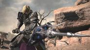 Adri in battle stance from Final Fantasy XIV