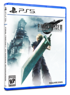 FFVII Remake Intergrade physical standard edition box art for PS5