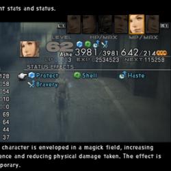 Final Fantasy XII stats