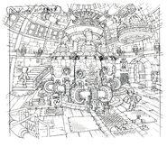 Lindblum Castle Lift Engine Room FF9 Art